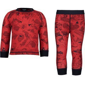 Everest Print Wool Underwear Set Kerrasto