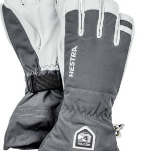 Hestra Army Leather Heli Ski Glove Lasketteluhanskat Harmaa