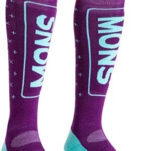 Mons Royale Snow Tech Sock Laskettelusukat Tummanpunainen